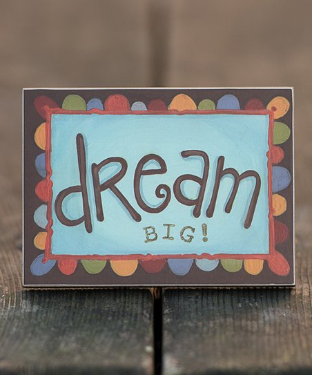 &#039;Dream Big!&#039; Block Art