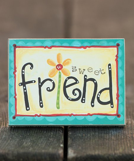 'Sweet Friend' Block Art