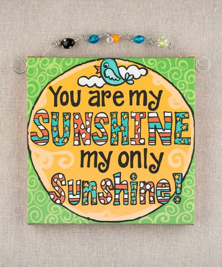 'You Are My Sunshine' Beaded Canvas