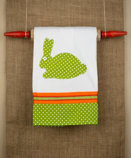 Green & Orange Bunny Tea Towel