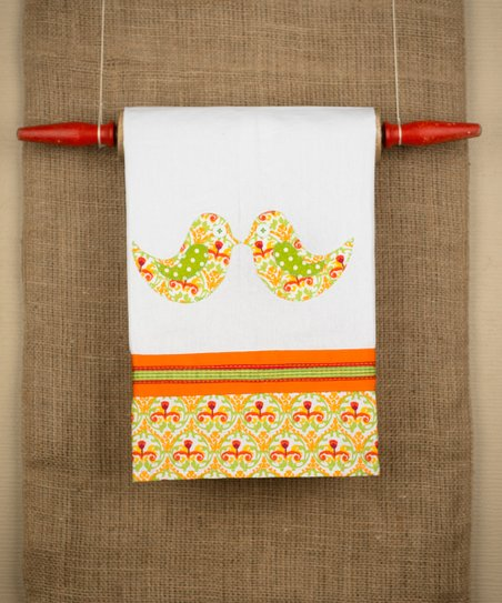 Kissing Birds Tea Towel