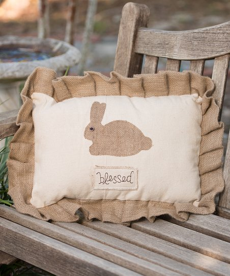 &#039;Blessed&#039; Bunny Large Pillow
