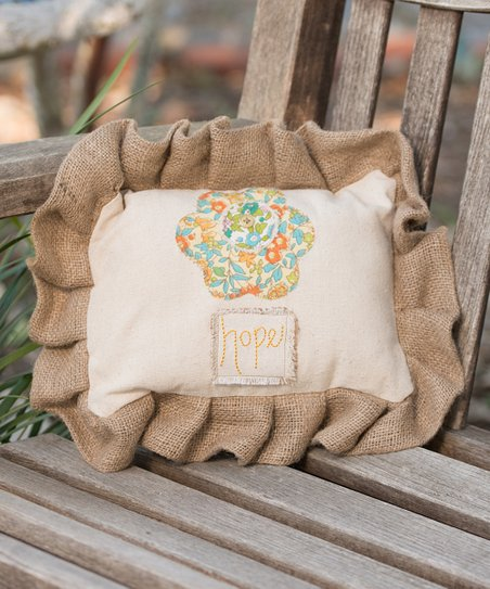 &#039;Hope&#039; Flower Pillow