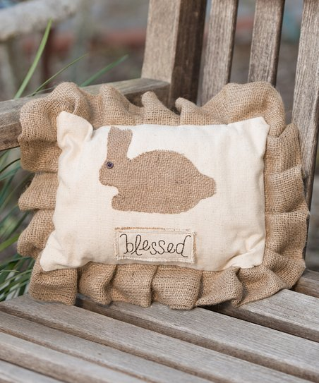 'Blessed' Bunny Small Pillow