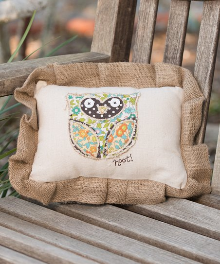 'Hoot!' Owl Pillow