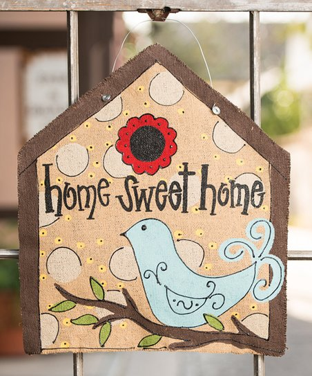 'Home Sweet Home' Burlee Wall Art