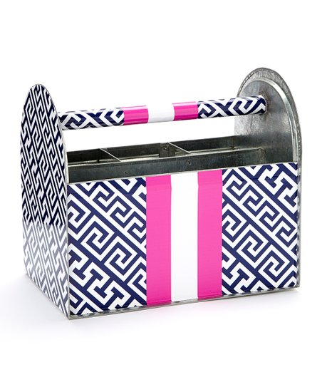 Blue & Pink Casey Utensil Caddy