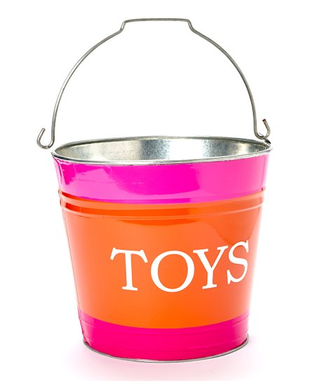 Pink & Orange Jamie 'Toys' Bucket