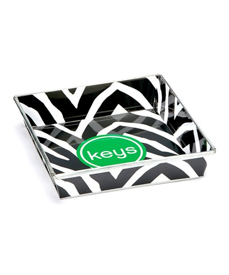 Black Zebra 'Keys' Tray