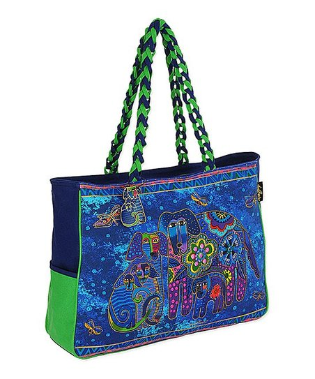 Blue & Green Canine Family Tote