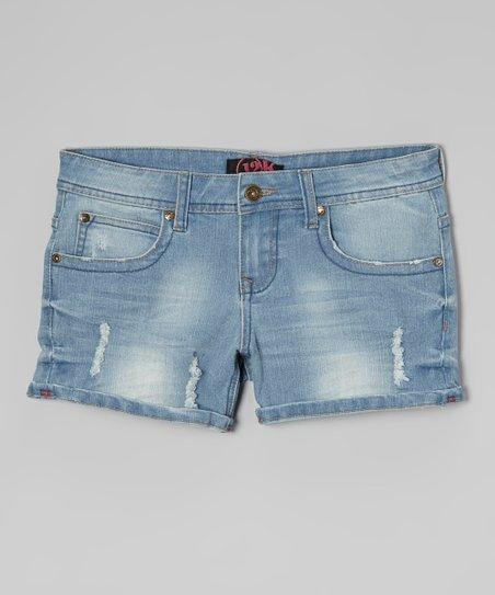 Light Wash Denim Shorts – Girls