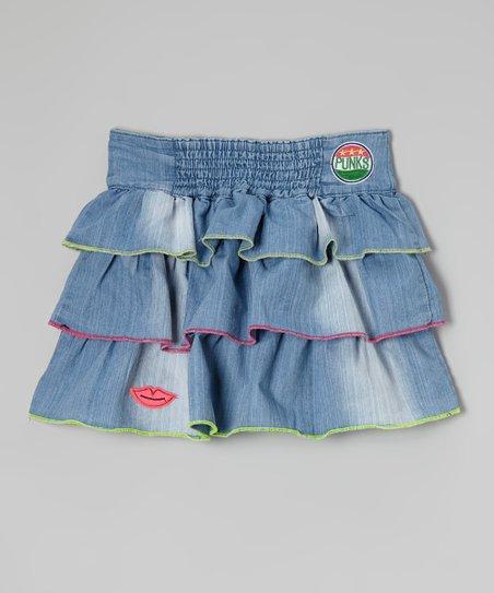 Blue Ocean Wash Denim Skirt – Girls