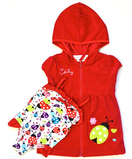 Cherry Ladybug One-Piece & Cover-Up - Infant