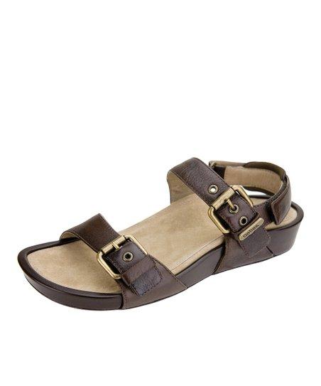 Dark Brown Leather Mandehle Sandal