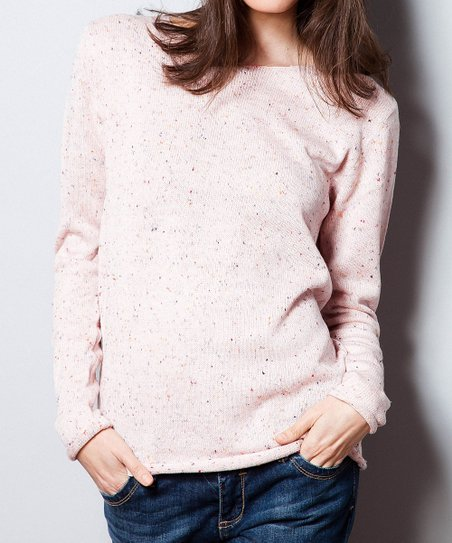 Soft Clay Speckled Sweater