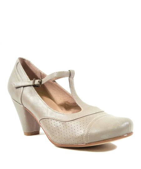 Gray Malibu T-Strap Pump - Women