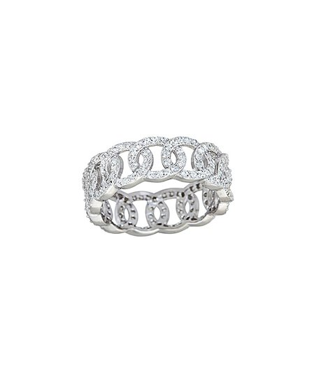 Cubic Zirconia & Sterling Silver Olympic Eternity Ring