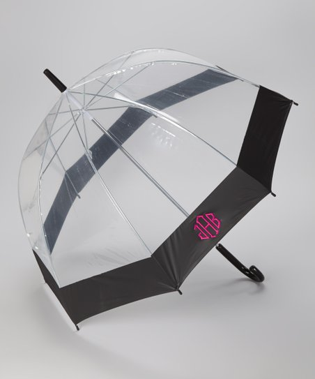 Clear & Pink Monogram Umbrella