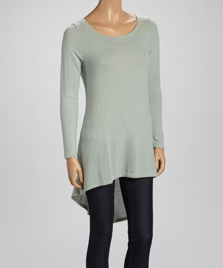 Mint Semi-Sheer Hi-Low Tunic