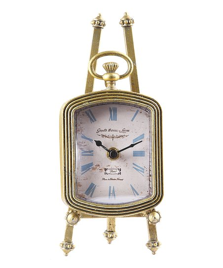Gold Finish Chateau Easel Clock