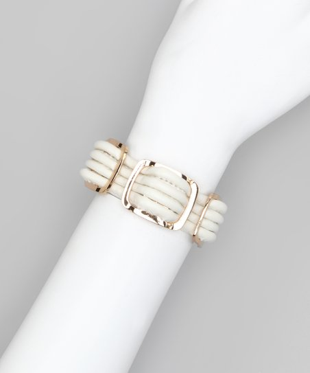 White Gold Square Bracelet