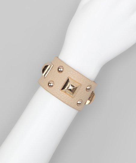 Khaki Square Stud Cuff