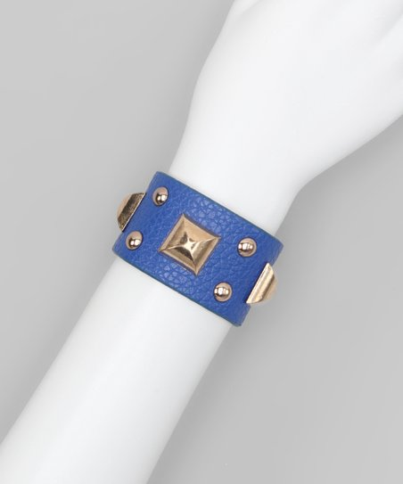 Blue Square Stud Cuff