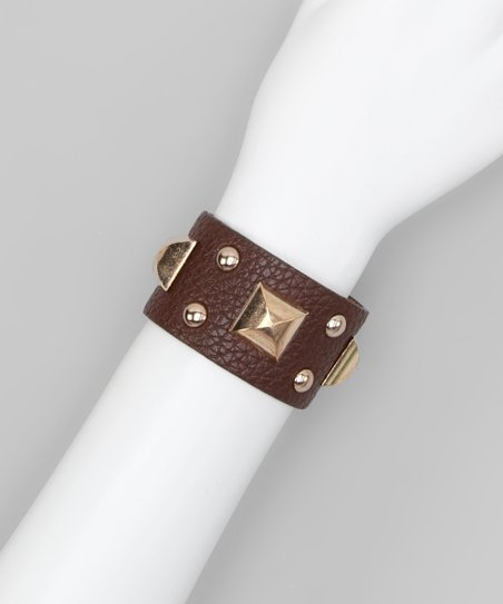 Brown Square Stud Cuff