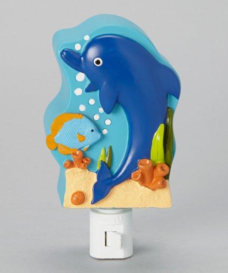 Bluest Blue Dolphin Night-Light