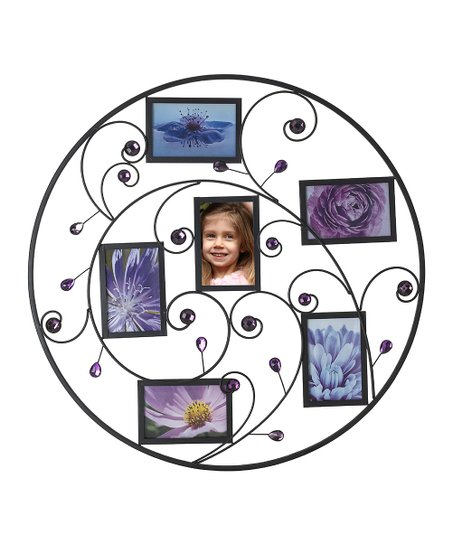 Purple Beaded Curl Photo Collage Frame