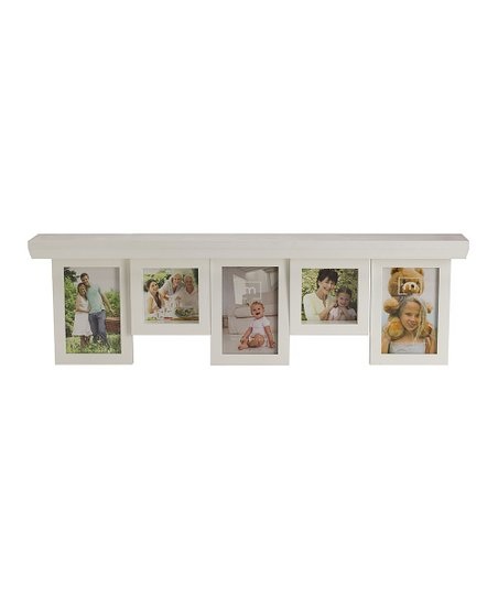 White Sliding Photo Shelf