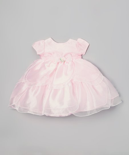 Pink Tiered Dress - Toddler & Girls