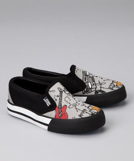 Gray & Black Wanna Rock Slip-On Sneaker