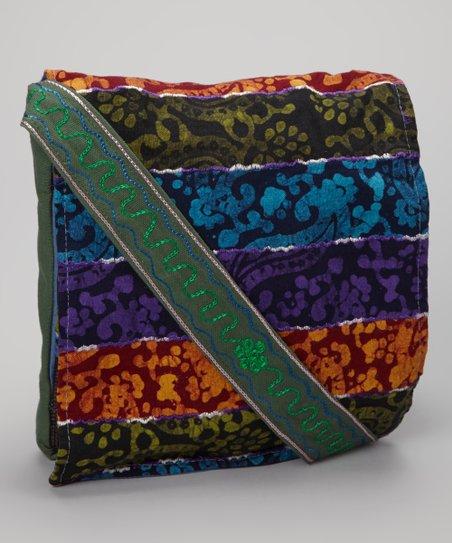 Olive & Blue Paisley Crossbody Bag