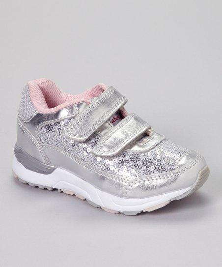 Silver & Pink Flash Sport Sneaker