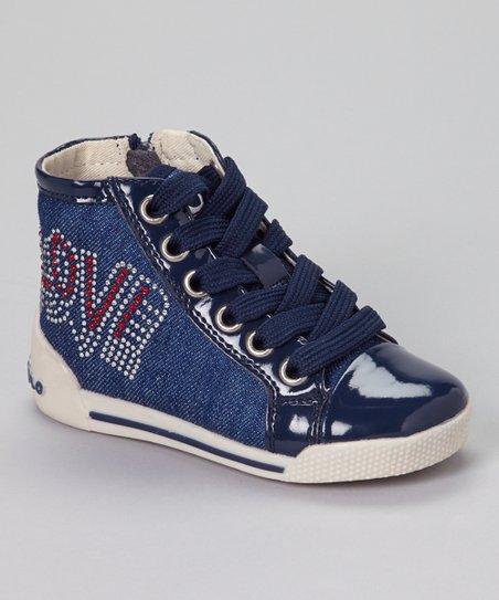 Denim Lacca Hi-Top Sneaker