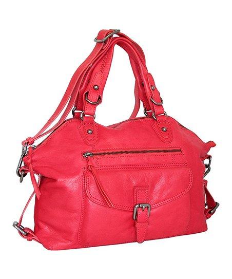 Red Slim Shady Leather Satchel