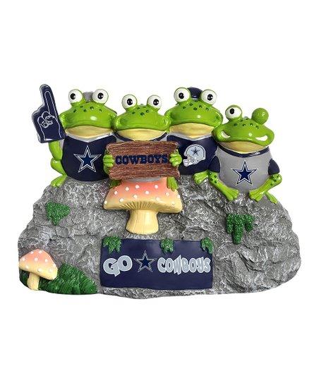 Dallas Cowboys Frog Fan Bench Statue