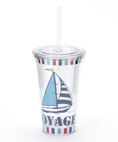 Sailboat Tumbler &amp; Straw