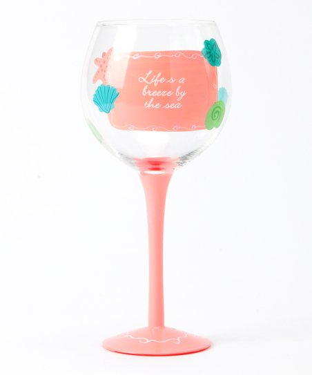 Salmon Sea Life Wineglass