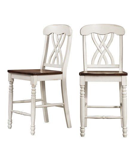 White Counter Height Chair - Set of Two