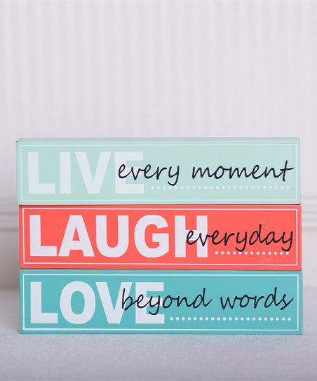 'Live, Laugh, Love' Sign Set