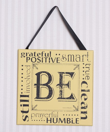 Yellow & Black 'Be' Wall Art