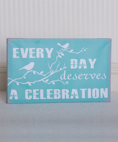 Blue & White 'Everyday Celebration' Canvas