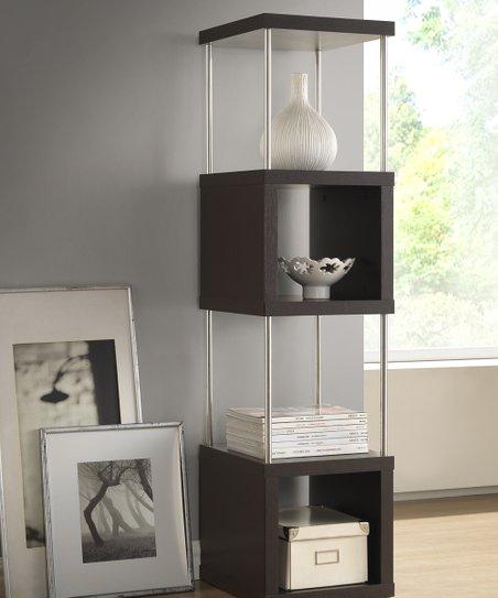 Dark Brown Murillo Modern Display Shelf Tower