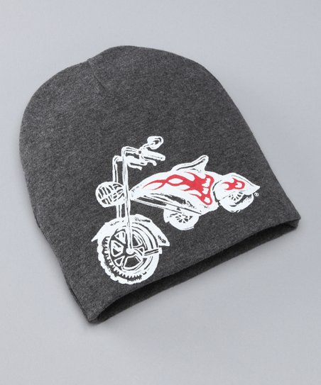 pinkaxle Gray & White Chopper Beanie