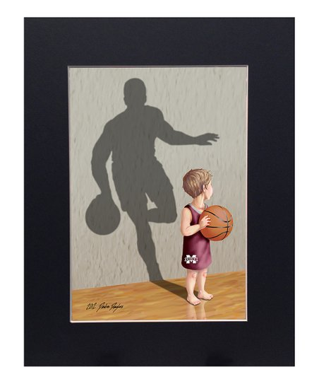 Mississippi State Bulldogs Basketball Player Print