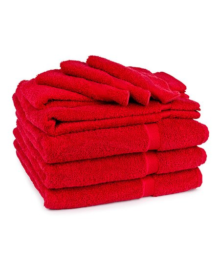 Berry Red Soft Touch Towel Set