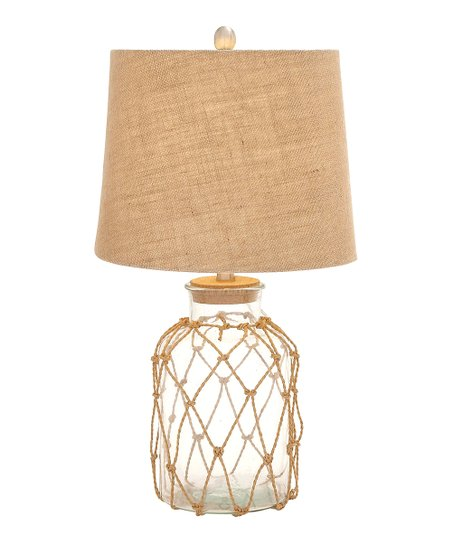 Rope & Glass Table Lamp