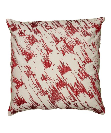 Red & White Abstract Pillow Cover